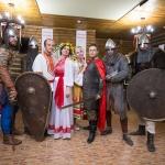 Турнир дружинников славянских племен на тематической свадьбе.